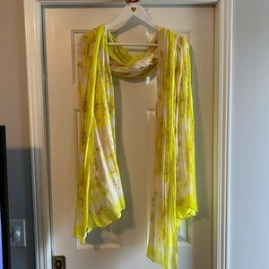 Stella & Dot yellow floral scarf